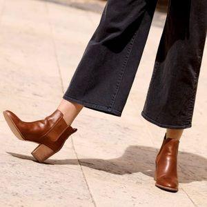 MADEWELL The Regan Block Heel Ankle Boot/Bootie